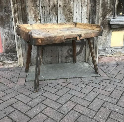 Incredible Early 19Thc Sycamore Primitive Table Work Bench 579948 Andrewgaddart Wooden Chair Designs For Living Room Andrewgaddartcom