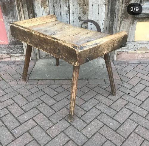 Magnificent Early 19Thc Sycamore Primitive Table Work Bench 579948 Andrewgaddart Wooden Chair Designs For Living Room Andrewgaddartcom