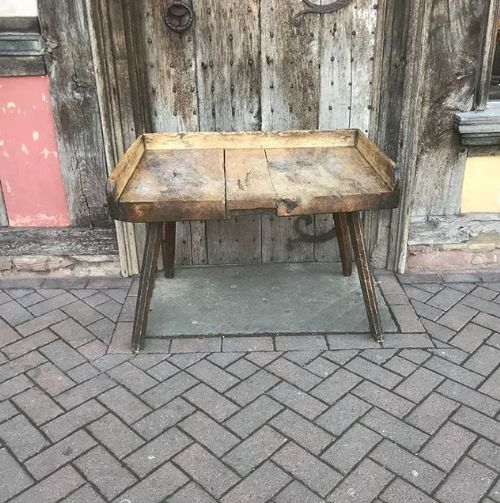 Outstanding Early 19Thc Sycamore Primitive Table Work Bench 579948 Andrewgaddart Wooden Chair Designs For Living Room Andrewgaddartcom
