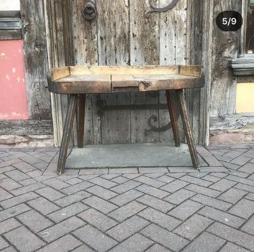 Tremendous Early 19Thc Sycamore Primitive Table Work Bench 579948 Andrewgaddart Wooden Chair Designs For Living Room Andrewgaddartcom